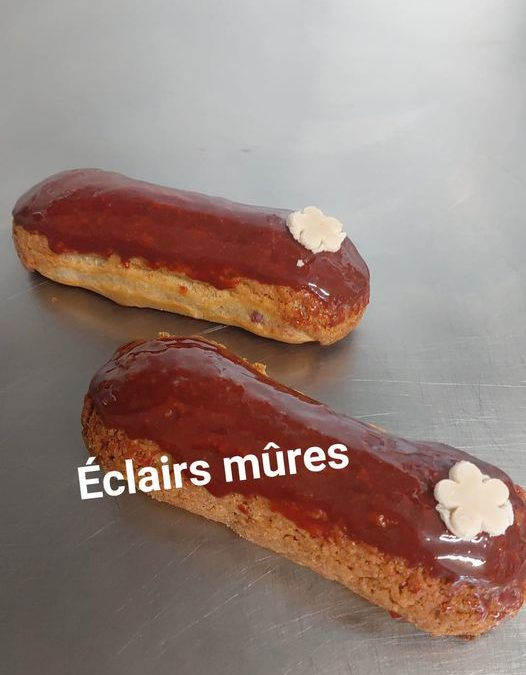 Nouveautés : éclairs mûres  Boulangerie La Muse d…